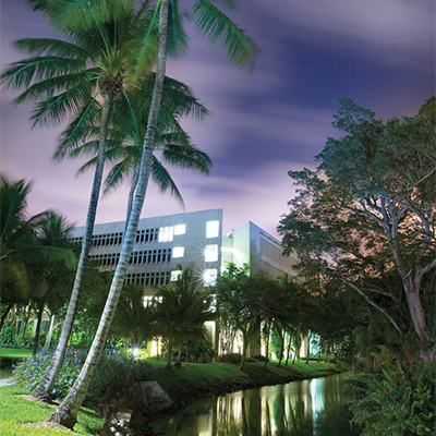 School of Business Administration at night