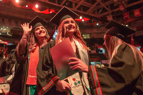 More than 1,000 undergraduate and graduate students participated in the fall commencement ceremonies.