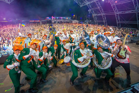 The Frost Band of the Hour performed at Ultra Music Festival Saturday, March 30.