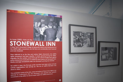 "The exhibit ""Stonewall: 50 Years in the Fight for Equality"" is currently on display at the Stonewall National Museum and Archives."
