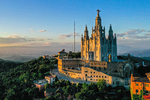 Mount Tibidabo, overlooking Barcelona. Photos: Charles Gonzalez for the University of Miami