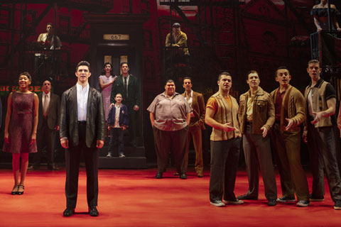 "University of Miami alumnus Joey Barreiro, performing in the touring Broadway hit ""A Bronx Tale,"""