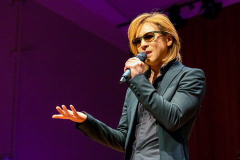 Japanese rock legend Yoshiki taught a masterclass at the Frost School of Music.