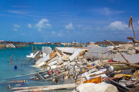 Hurricane Dorian left in its wake more than 1.5 billion pounds of debris in Marsh Harbour.