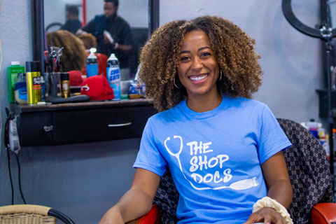 The Shop Docs outreach initiative launched three years ago and conducts free health screenings in barbershops throughout the community.