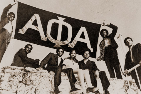 Members of Alpha Phi Alpha. Photo: University of Miami Libraries