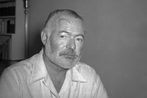 Ernest Hemingway at his country home in San Francisco de Paula near Havana, Cuba on August 21, 1950. Photo: The Associated Press