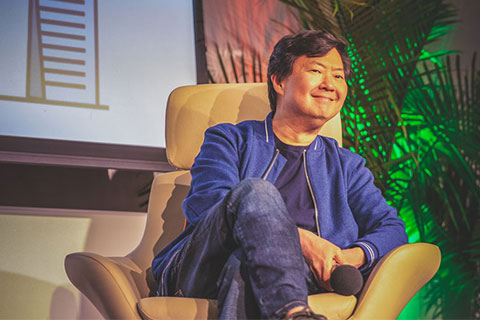 "Korean-American actor, comedian, and physician Ken Jeong spoke in the second installment of Student Government's ""What Matters to U"" lecture series."