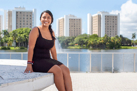 Lucha Latina President Dinora Orozco is a senior majoring in political science.