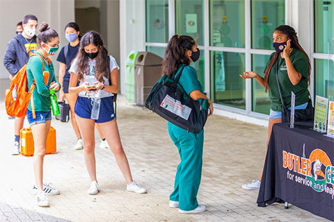 The new Public Health Ambassadors Program was formed to support the safe reopening of campus and COVID-19 operating plans.
