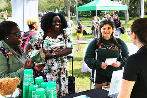 Students were given a firsthand chance to explore involvement opportunities at the annual Spring Involvement Fair.