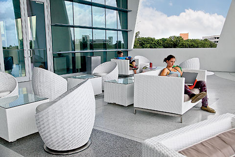 Shalala Student Activities Center patio.